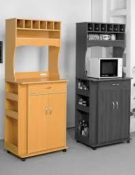modern microwave cart with wine storage storage drawer and