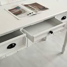 Schreibtische Weiss Holz Schreibtisch Sekretär Ferrand Holz Mdf Weiß 3 Schubladen