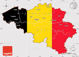 map of begium flag simple map of belgium