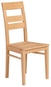 chaise en bois chaise de salle à manger en bois massif coloris chêne nature lot de