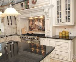 Traditional Kitchen Design Ideas Traditional Kitchen Designs With White Cabinet And Black Granite