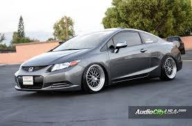 2012 honda civic tire size 2012 honda civic 2 dr on 18 esr wheels sr 01 hyper black machine lip
