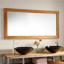 Mirrors Bathroom Wulan Teak Mirror Natural Teak Bathroom