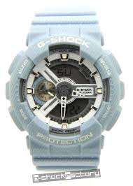 light blue g shock watch g shock ga110dc 2a7 light blue denim watch by www g shockfactory com