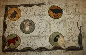 Hooked Rug Patterns Primitive Primitives By The Light Of The Moon Wool Applique And Rug Hooking