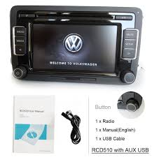 eoda oem volkswagen rcd510 car stereo radio 6cd usb aux amazon co