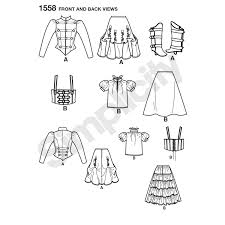pattern for misses u0027 steampunk costume simplicity