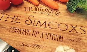 personalised cutting boards personalised bamboo chopping board groupon goods