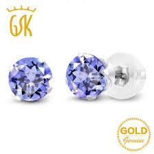 tanzanite stud earrings gemstoneking 1 00 ct cut tanzanite stud earrings