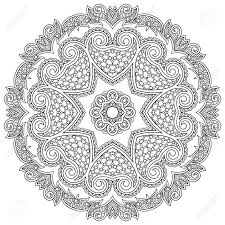 circle ornament black and white ornamental lace royalty