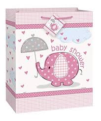 baby shower gift bags pink elephant girl baby shower gift bag kitchen dining