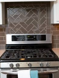 Kitchen Subway Tile Backsplash Black Subway Tile Backsplash White Cabinet Black Countertop Blue