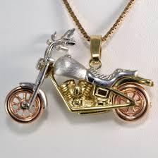 gold motorcycle unique tri tone gold motorcycle pendant necklace 20 u0027 u0027 u2013 100 ways
