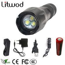 tac light flash light litwod z30 xm l t6 5000lm aluminum waterproof zoomable led