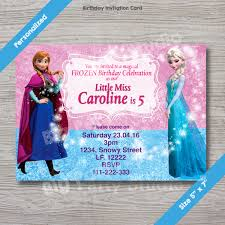 Birthday Invitation Card Download Disney Frozen Elsa U0026 Anna Personalized Happy Birthday Invitation