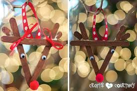 make a popsicle stick reindeer ornament with your