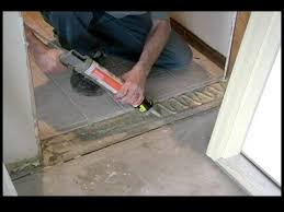 How To Replace Exterior Door How To Replace A Garage Entry Door Gluing The Threshold Of A