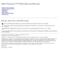 precision t7500 service manual en us pdf dynamic random access