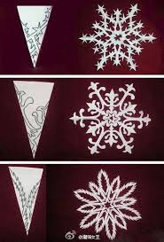 beautiful snowflake paper cut with decorative diy