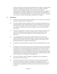 blogger agreement form template