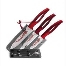 5 piece ceramic knife set with knife holder red flower u2013 go go