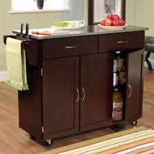 Movable Island For Kitchen Large Kitchen Cart On Wheels Stainless Steel Top Rolling Island