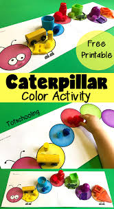 caterpillar color matching u0026 sorting toddlers totschooling