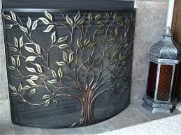 fireplace screens target exquisite arched screen fish black