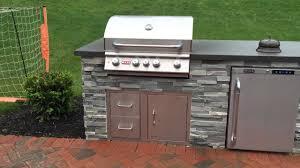 custom ledge stone fire pit u0026 kitchen island youtube