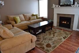 modern living room carpet beige wood rustic coffee table shelf