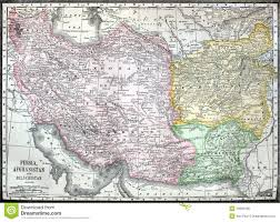Persia Map Old Map Of Iran Afganistan And Pakistan Royalty Free Stock Image