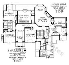 dual master bedroom floor plans telmoore manor house plan house plans by garrell associates inc