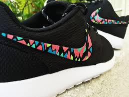 nike roshe design womens custom nike roshe run sneakers infrared aqua teal