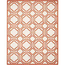 Outdoor Rug Square by Amazon Com Safavieh Amherst Collection Amt411f Ivory And Orange