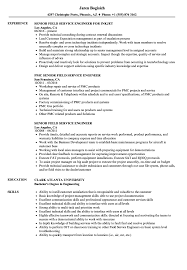senior field service engineer resume samples velvet jobs