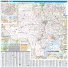 State Map Of Texas by Rand Mcnally Texas State Wall Map