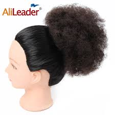 small afro puff buns hair pieces alileader hair collection small kinky afro puff pocket bun fro women