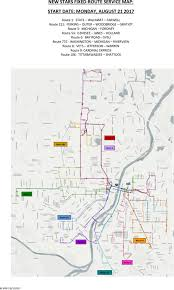 Holland Michigan Map by Routes