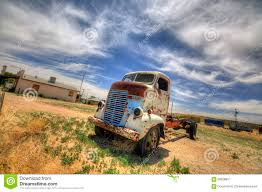 Ford Vintage Truck - old truck on route 66 editorial stock photo image 28426933