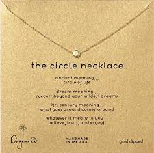 meaning necklace images Dogeared gift boxed classic gold dipped quot the circle quot karma jpg