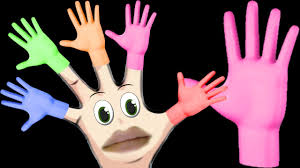 the finger family song halloween hand painting videos for kids