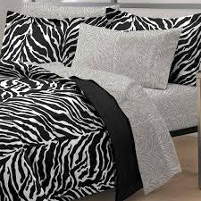 Zebra Bed Set Zebra Print Bed In A Bag Comforter Set