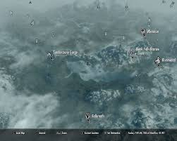 Skyrim World Map by Sunderstone Gorge Elder Scrolls Fandom Powered By Wikia