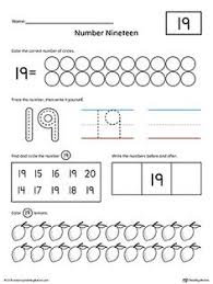 numbers 1 20 count and write activity set writing numbers