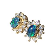 turquoise opal earrings australian opal direct miner direct prices new opal jewellery