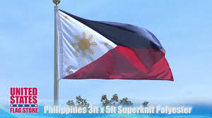 Flag Philippines Picture Philippines Flag 3ft X 5ft Superknit Polyester Youtube