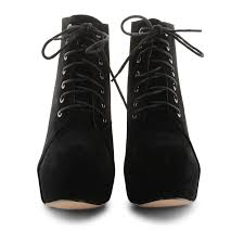 ankle boots uk ebay womens lace up ankle boots block high heel platform