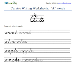 teaching cursive handwriting worksheets free worksheets library