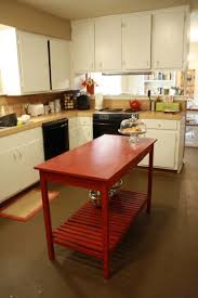 kitchen red slatted bottom diy kitchen island movable kitchen