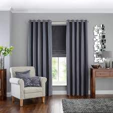 hotel venice grey blackout eyelet curtains dunelm window